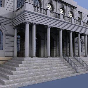 3d new york city hall model