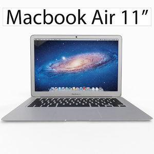 3d apple macbook air 11