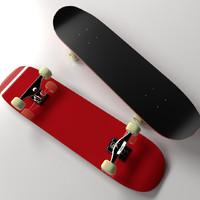 skateboard skate board 3d 3ds