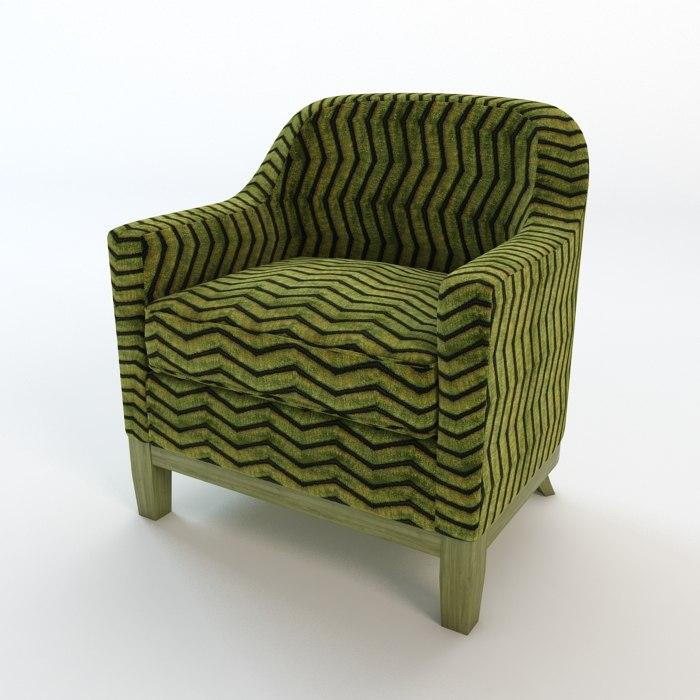 armchair chair 3d obj