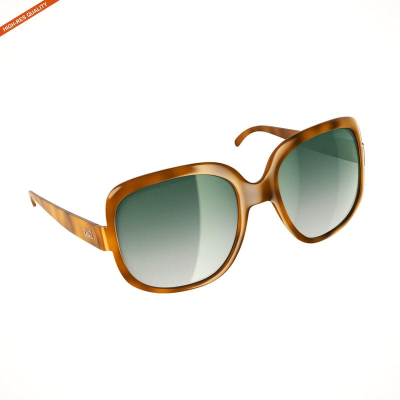 fashion sunglasses 3d model