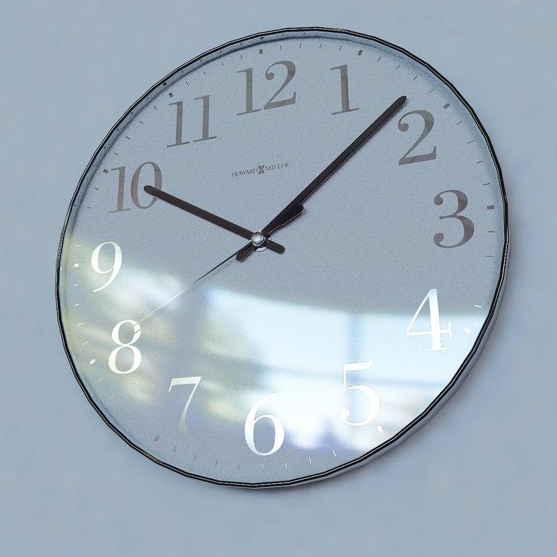 3d wall clock howard miller