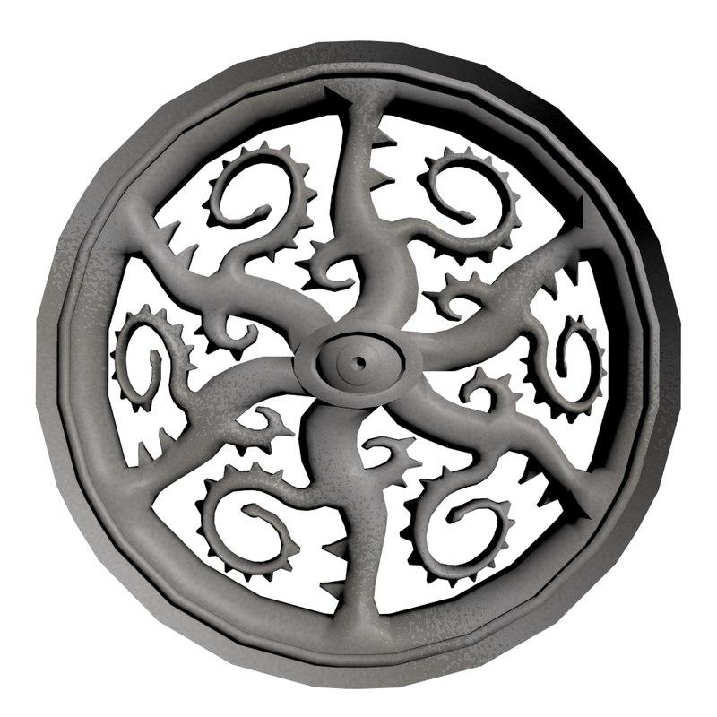 maya gothic rose window