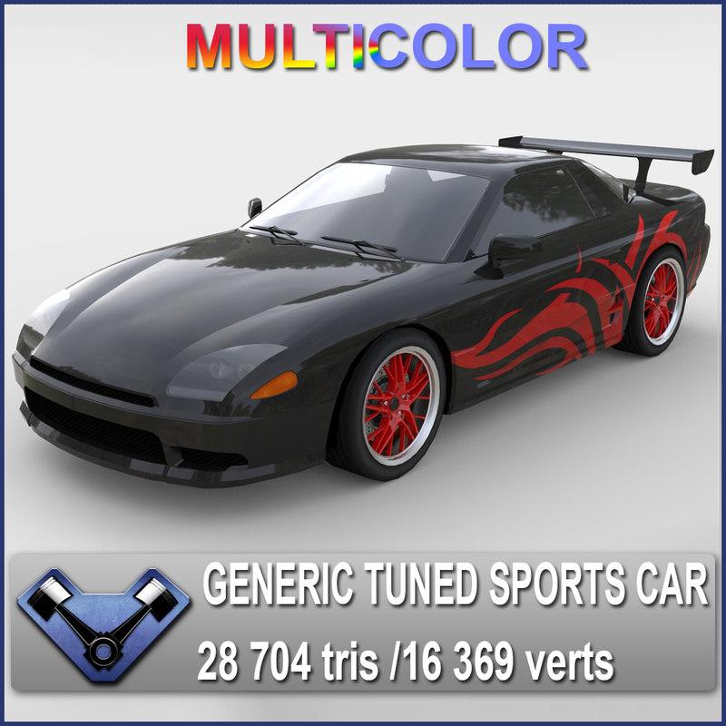 3d generic sports car sakura model