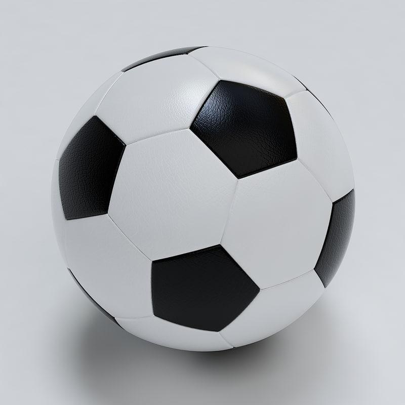 photo realistic soccer ball 3d max