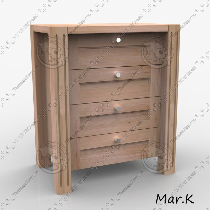 3ds max chest drawers