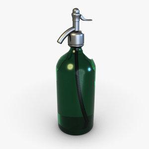 3d soda siphon model