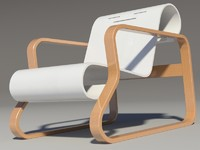 paimio chair alvar aalto_ wood Teak white