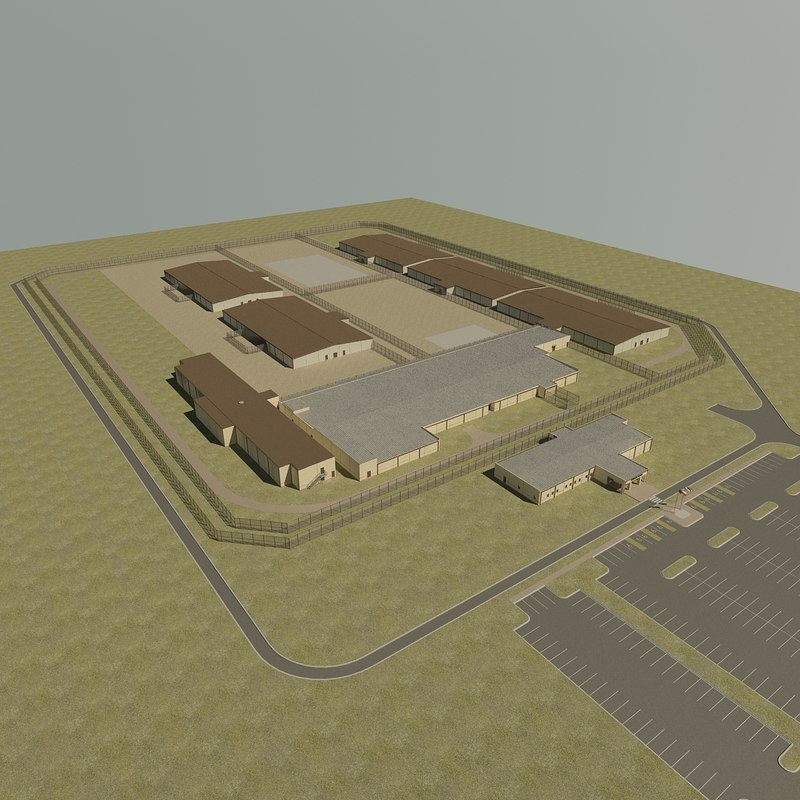 detention center prision 3d max