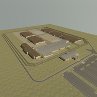 detention center prision 3d max