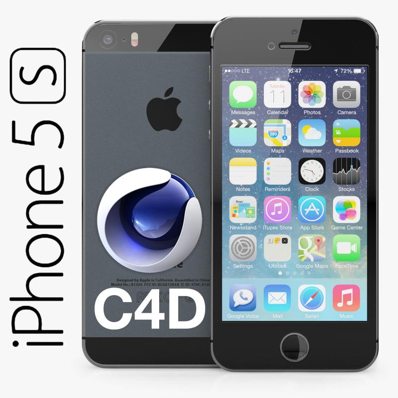 3d apple iphone 5s model