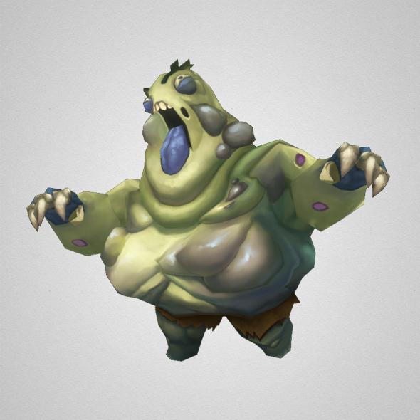 3d monster fat zombie model