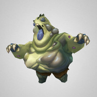 3d monster fat zombie model
