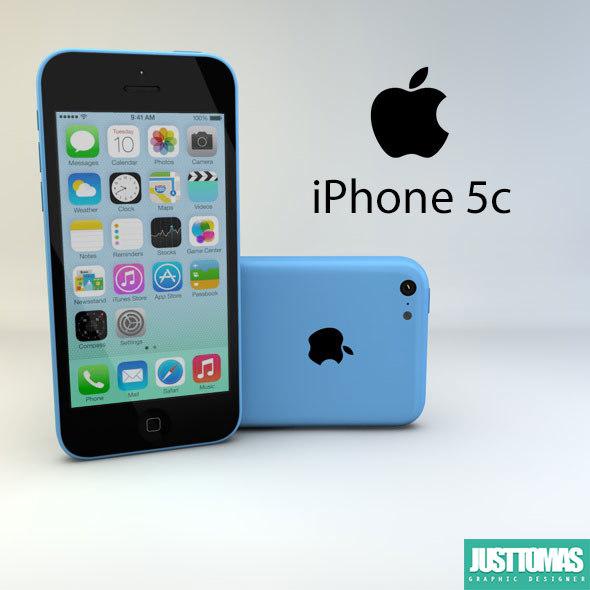 3d apple iphone 5c