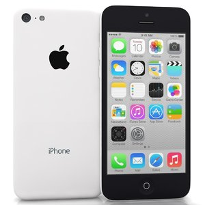 apple iphone 5c white 3d max