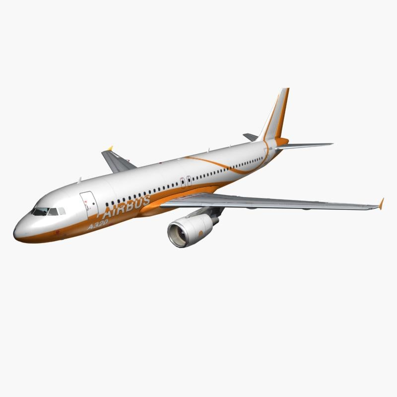 airbus a320 air 3d max
