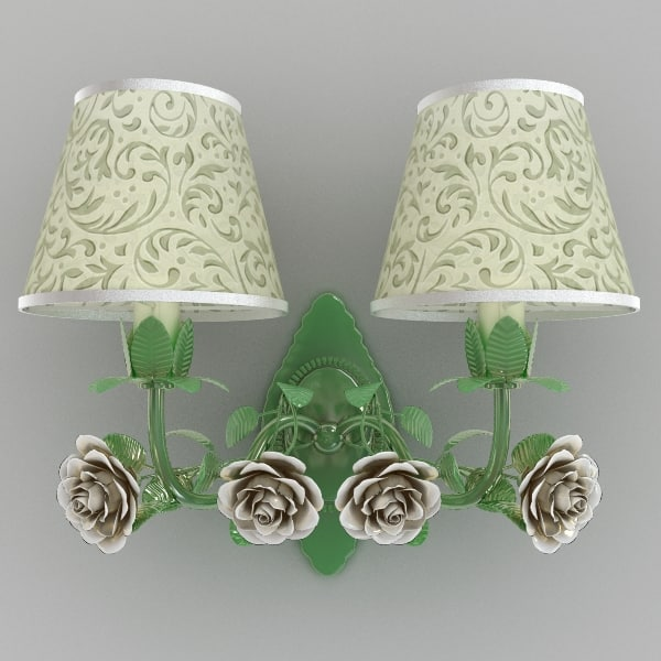 3ds max sconce rose