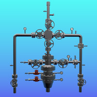 3d electric pump oil fittings model