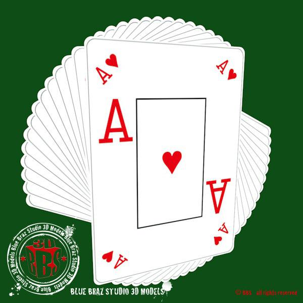 poker play cards 3d c4d