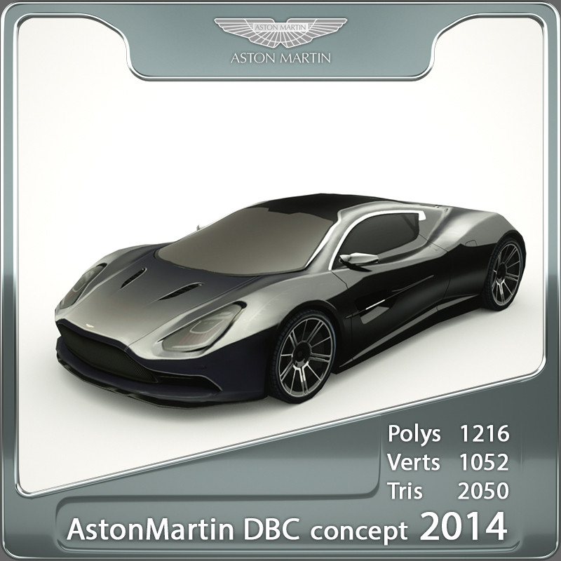 aston martin dbc 2014 3d model
