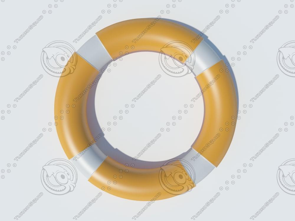 3d life buoy model