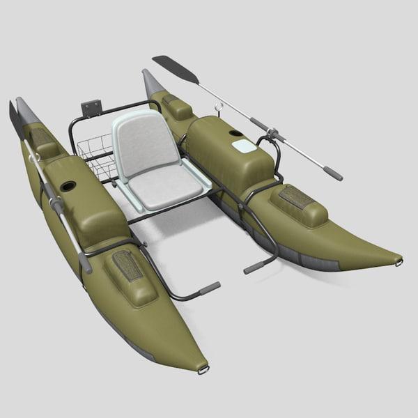 3d model inflatable pontoon boat