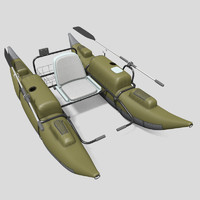 3d model inflatable pontoon boat