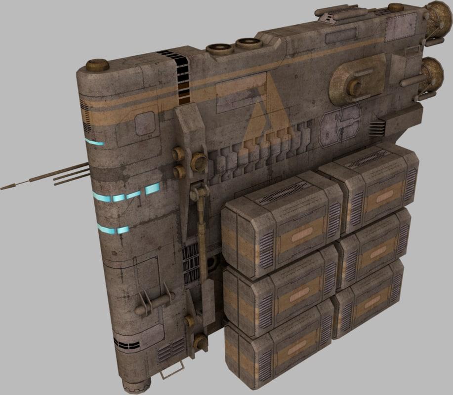 3d 3ds pack construction cargo