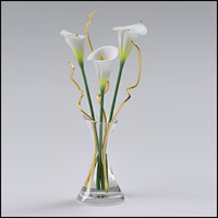 Vase of Lilies Flower Arrangement