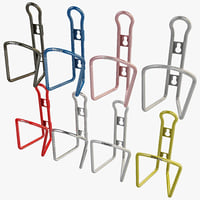 3d bicycle bottle cages set model