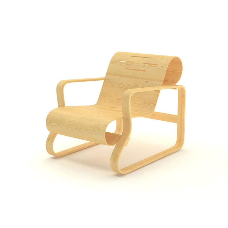 free paimio chair 3d model