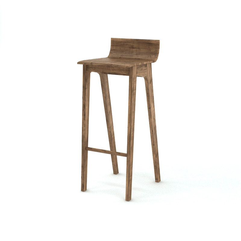 3ds max stool wooden
