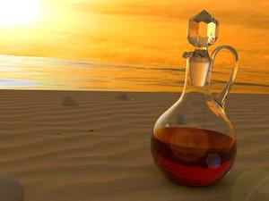 3d crystal glass bottle