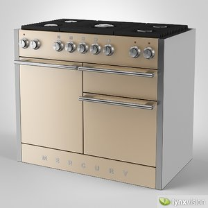 mercury gas range cooker 3d model