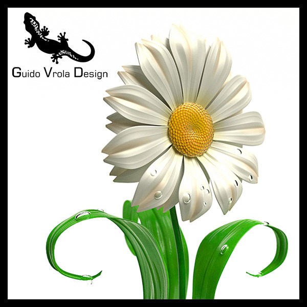 3ds stylized daisy