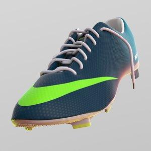 3d model nike soccer shoe mercurial