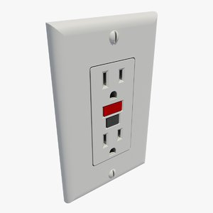gfci wall outlet 3d model