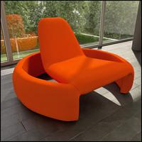 3d obj branca lisboa gt2000 lounge chair