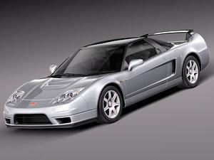 honda car sport r 2005 3d model