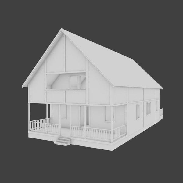 house exterior 3d obj