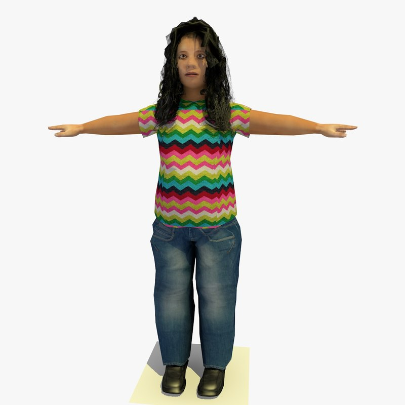 realistically african d female body 3d model