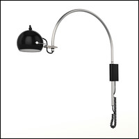 Contemporary Retro Arc Wall Reading Lamp