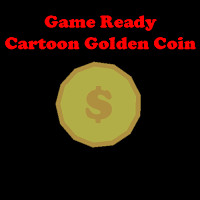 Cartoon Golden Coin