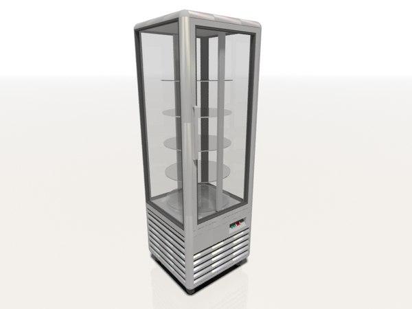chiller freezer display 3d model