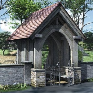 3d model lychgate gate