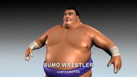 3d model of sumo wrestler