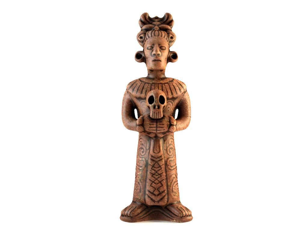 3ds max decorative mayan priest replica