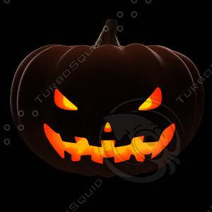3ds max posing halloween pumpkin