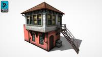 railway building railing 3d max