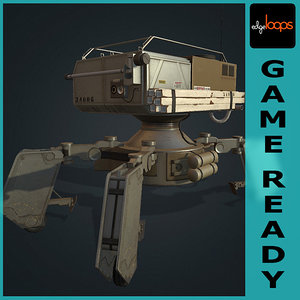 3d model robot lowpoly